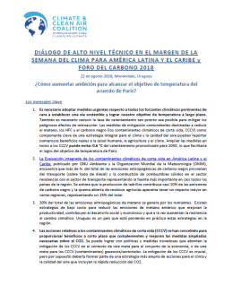 High Level Technical Dialogue in Latin America - outcomes documents