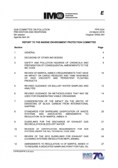 PPR 5/24 Report to the Marine Environment Protection Committee