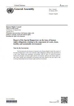 Report of the Special Rapporteur on the issue of human rights obligations