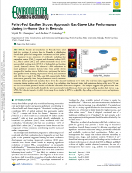Pellet-fed semi-gasifier stoves in Rwanda approach gas-stove like performance: Field evaluation of climate- and health-relevant pollutant emissions