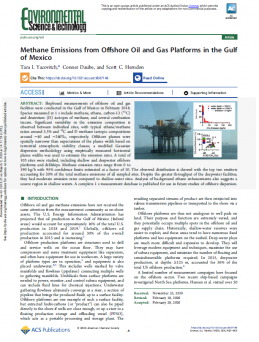 Methane Emissions from Offshore Oil and Gas Platforms in the Gulf of Mexico