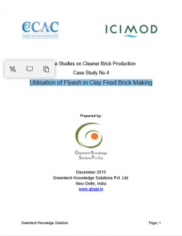 Case Study on Utilization of Flyash in Clay Fired Brick Production