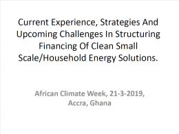Clean Household Energy Transition presentation
