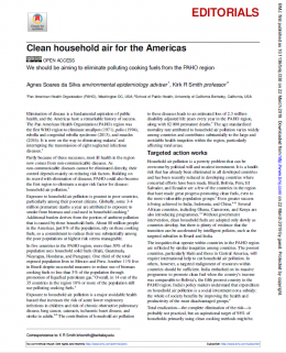 Clean household air for the Americas