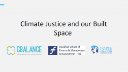 Climate justice and our built space