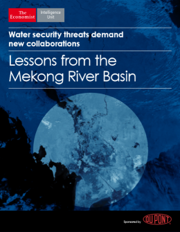 Water security threats demand new collaborations: Lessons from the Mekong River Basin