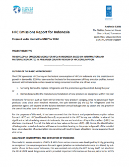 HFC Emissions Assessment Report for Indonesia