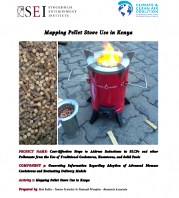 Mapping pellet stove use in Kenya