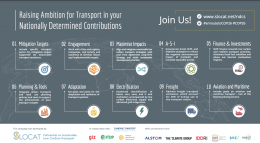 Ten Recommendations to Raise Ambition for Transport in NDCs