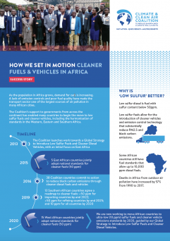 Cleaner fuels and vehicles in Africa (factsheet)
