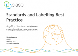 Standards and Labelling Best Practice