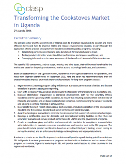 Transforming the Cookstoves Market in Uganda