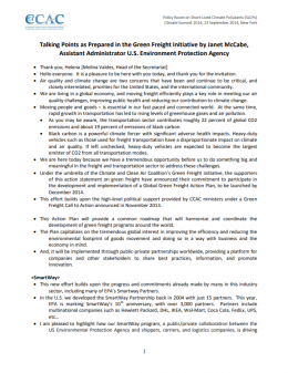 UNSG Climate Summit Statement by Janet McCabe, U.S. Environment Protection Agency