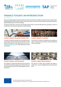 Finance toolkit for local and regional governments
