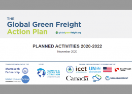 Global Green Freight Action Plan: planned activities 2020-2022