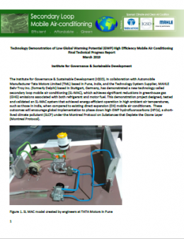 Technology Demonstration of Low Global Warming Potential (GWP) High Efficiency Mobile Air Conditioning Final Technical Progress Report