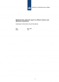 Netherlands national report on Black Carbon and Methane emissions