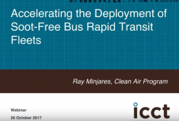 Accelerating deployment of soot-free bus rapid transit fleets