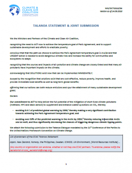 Talanoa statement & joint submission