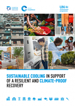 Cover of the report:  Sustainable Cooling In Support Of A Resilient And Climate-Proof Recovery