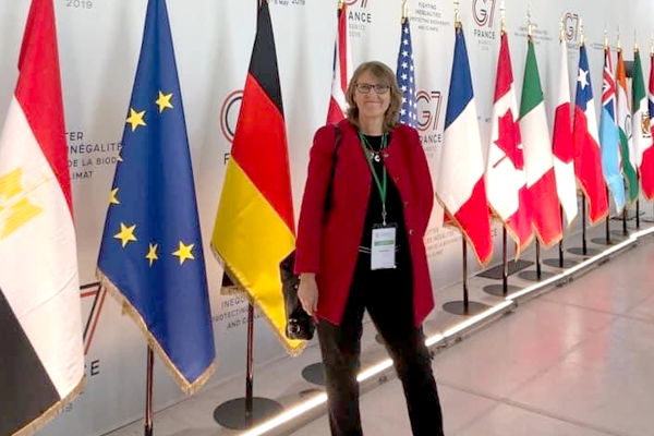 Helena Molin Valdes at the G7 Summit in Biarritz, France